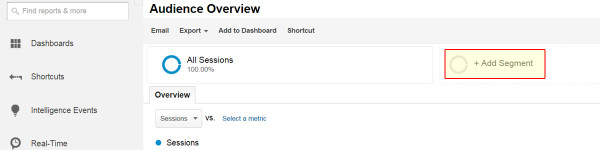 Add New Segment To Google Analytics