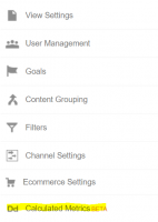 Calculated Metrics Google Analytics Admin