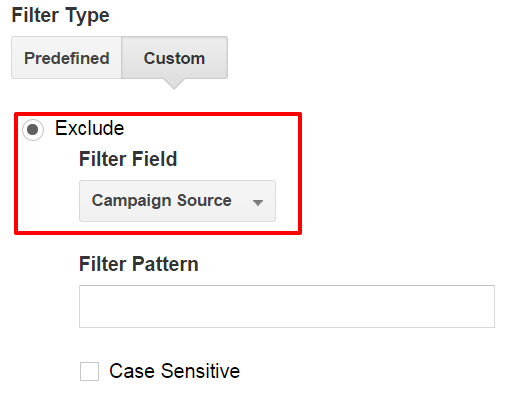 Exclude Campaign Source