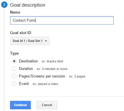 Goal Setup Step 2