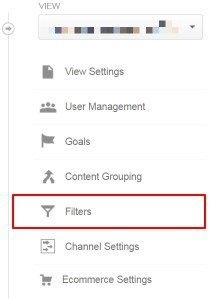 Google Analytics Filters Admin