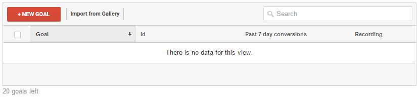 Google Analytics - New Goal