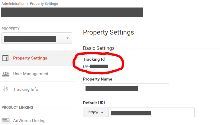 Google Analytics Property ID